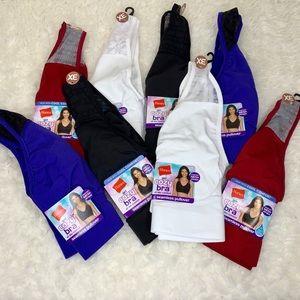 8 Pack Hanes Get Cozy Bralette 3X Plus Size NWT